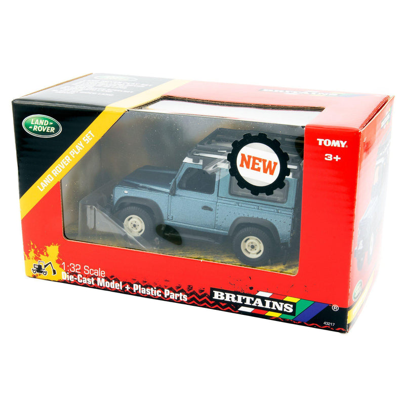Land Rover Defender 90 Toy Car blue - 1:32 Scale-Britains-Diecast Model Centre