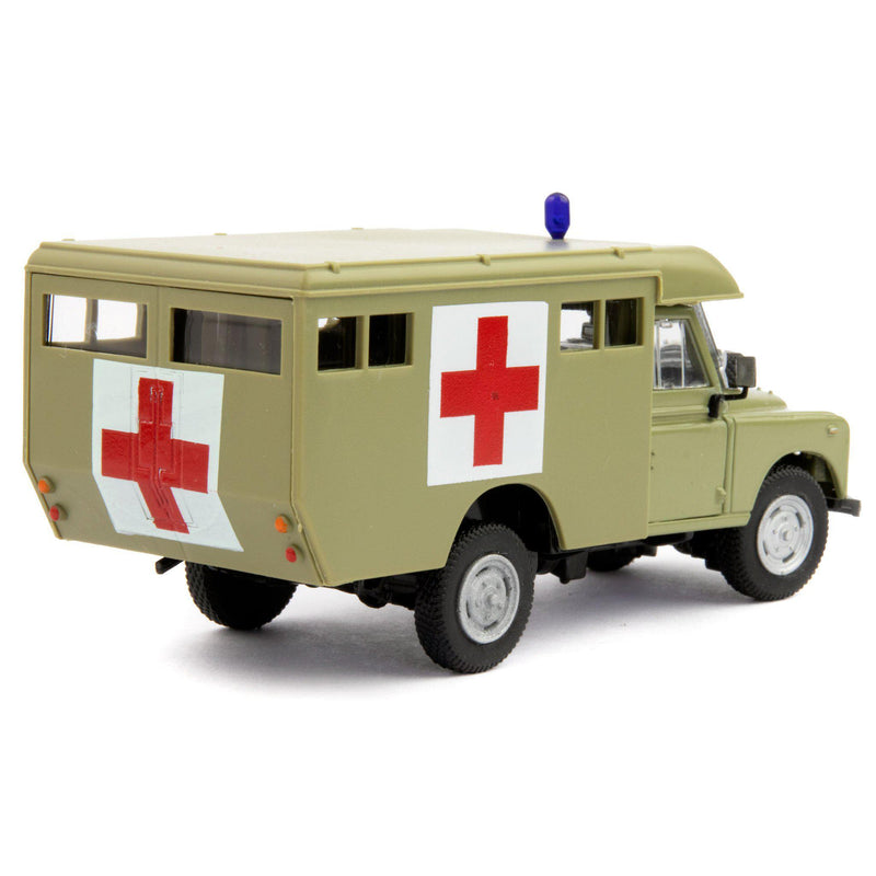 Land Rover Defender Series 3 109 Diecast Model Car Army Ambulance - 1:43 Scale-Cararama-Diecast Model Centre