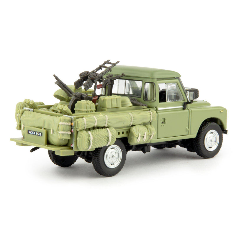 Land Rover Defender Series 3 109 Diecast Model Car Army Gun Truck - 1:43 Scale-Cararama-Diecast Model Centre