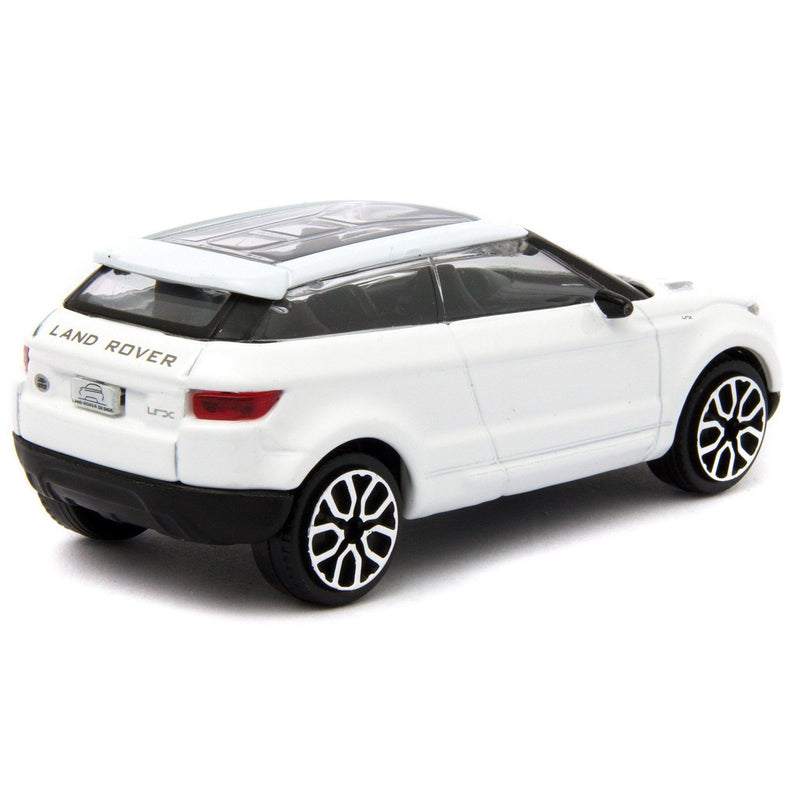 Land Rover LRX Concept (Evoque) Diecast Toy Car white - 1:43 Scale-Bburago-Diecast Model Centre
