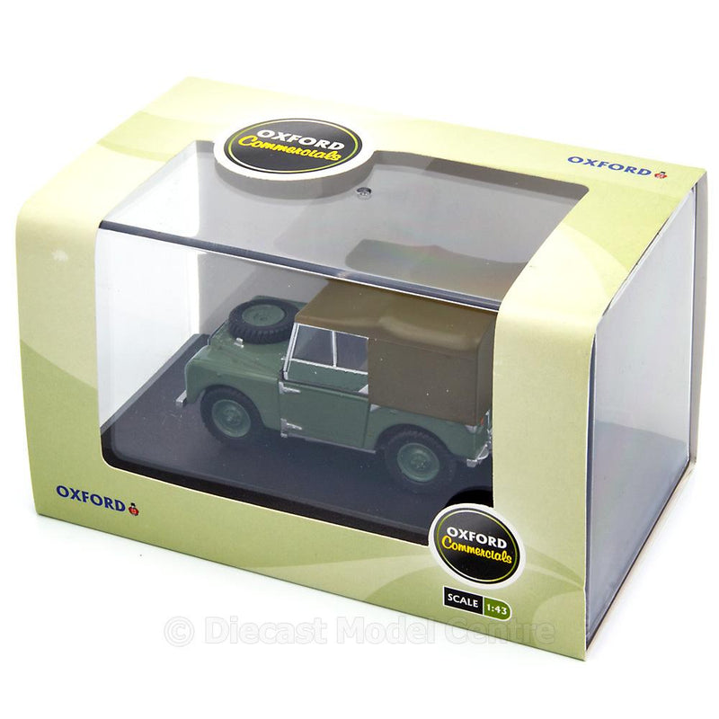 Land Rover series 1 Diecast Model Car HUE 166 green - 1:43 Scale-Oxford Diecast-Diecast Model Centre