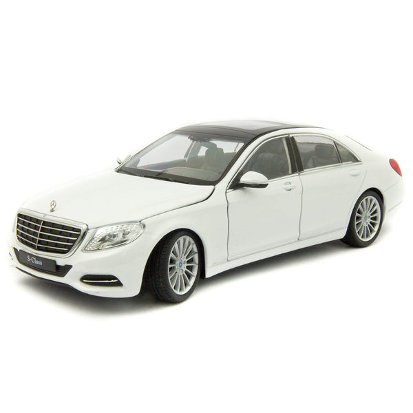 Mercedes-Benz S-Class (W222) 2013 white - 1:24 scale Diecast Model Car-Welly-Diecast Model Centre