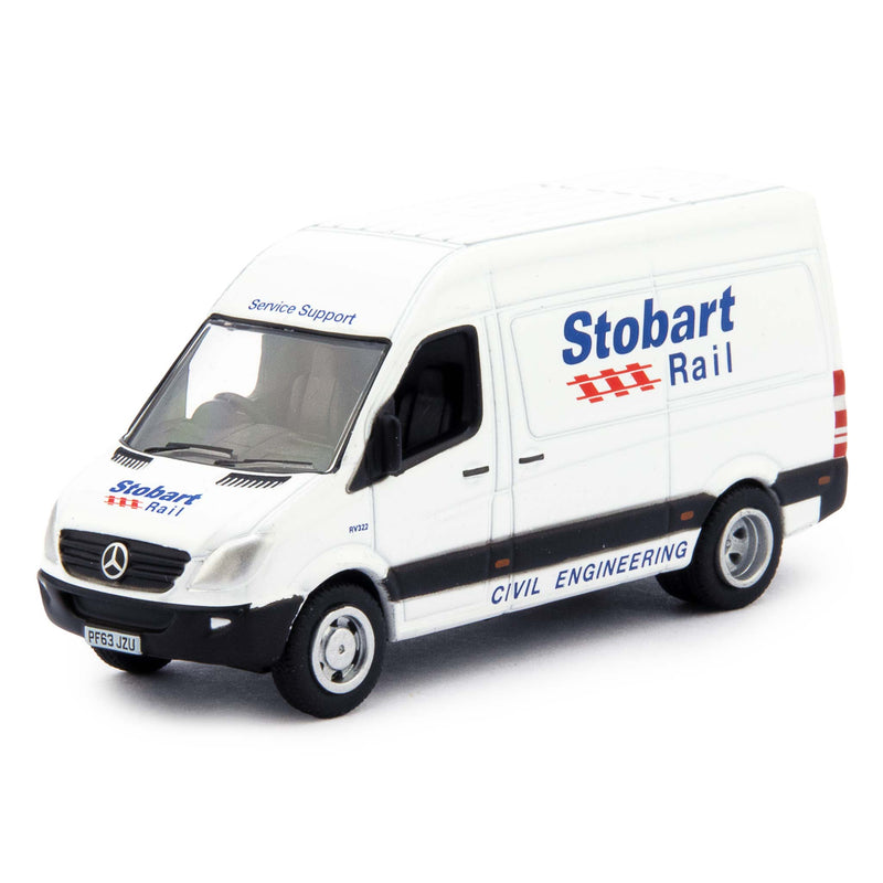 Mercedes Sprinter Diecast Model Van Stobart Rail - 1:76 Scale-Oxford Diecast-Diecast Model Centre