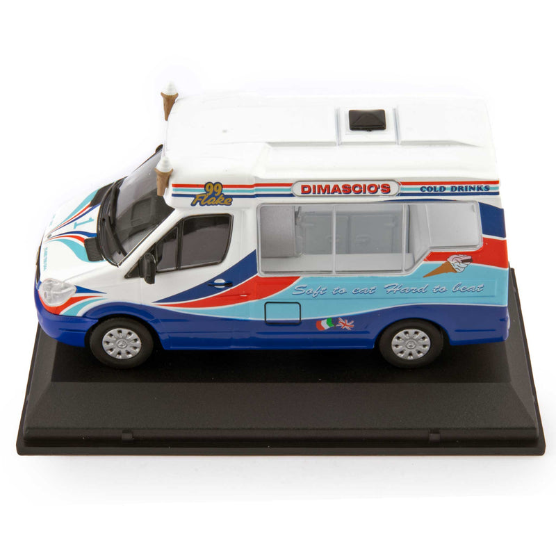 Mercedes Sprinter Whitby Mondial Diecast Model Ice Cream Van Dimascio's - 1:43 Scale-Oxford Diecast-Diecast Model Centre
