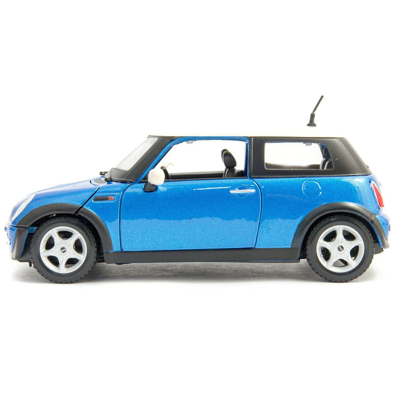 MINI Cooper Diecast Model Car blue - 1:24 Scale-Maisto-Diecast Model Centre