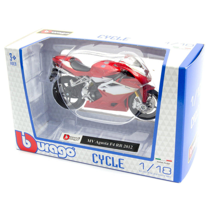 MV Agusta F4 RR Diecast Model Motorcycle 2012 - 1:18 Scale-Bburago-Diecast Model Centre
