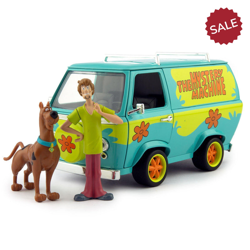 Mystery Machine with Shaggy & Scooby-Doo Diecast Model Van - 1:24 scale-Jada-Diecast Model Centre