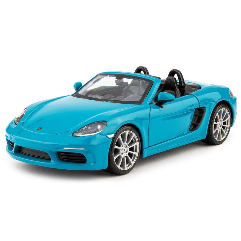 Porsche 718 Boxster Diecast Model Car blue - 1:24 Scale-Bburago-Diecast Model Centre