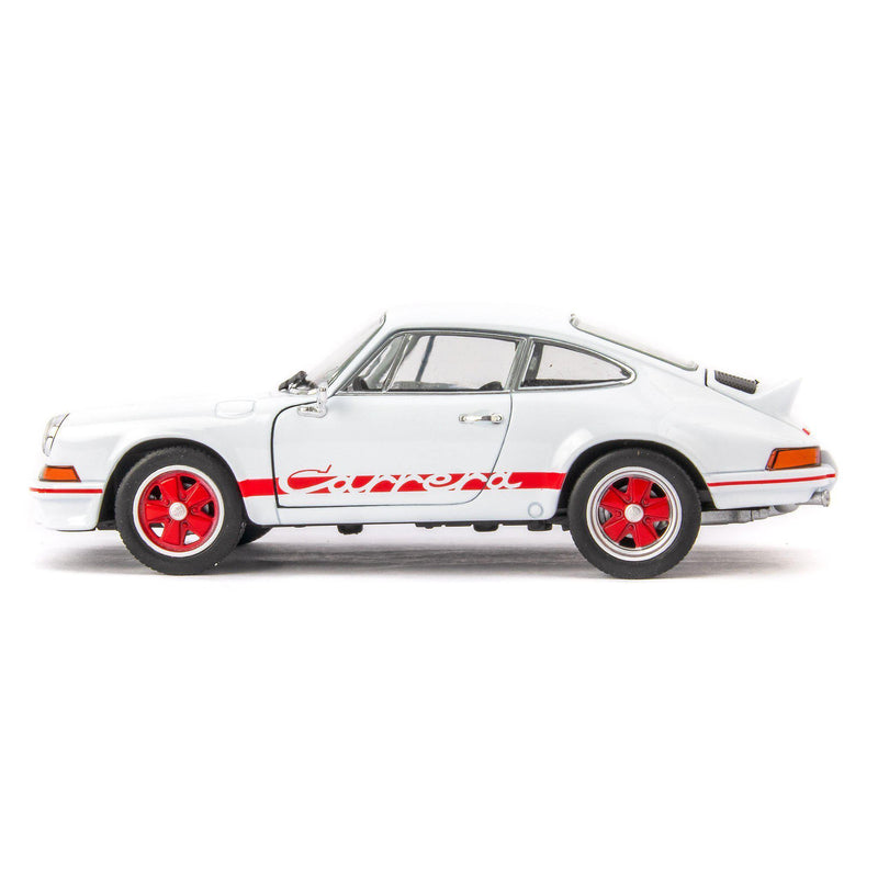 Porsche 911 Carrera RS 2.7 Diecast Model Car 1973 white - 1:24 Scale-Welly-Diecast Model Centre
