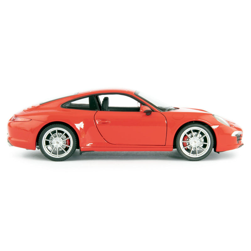 Porsche 911 Carrera S Diecast Model Car red - 1:24 Scale-Welly-Diecast Model Centre