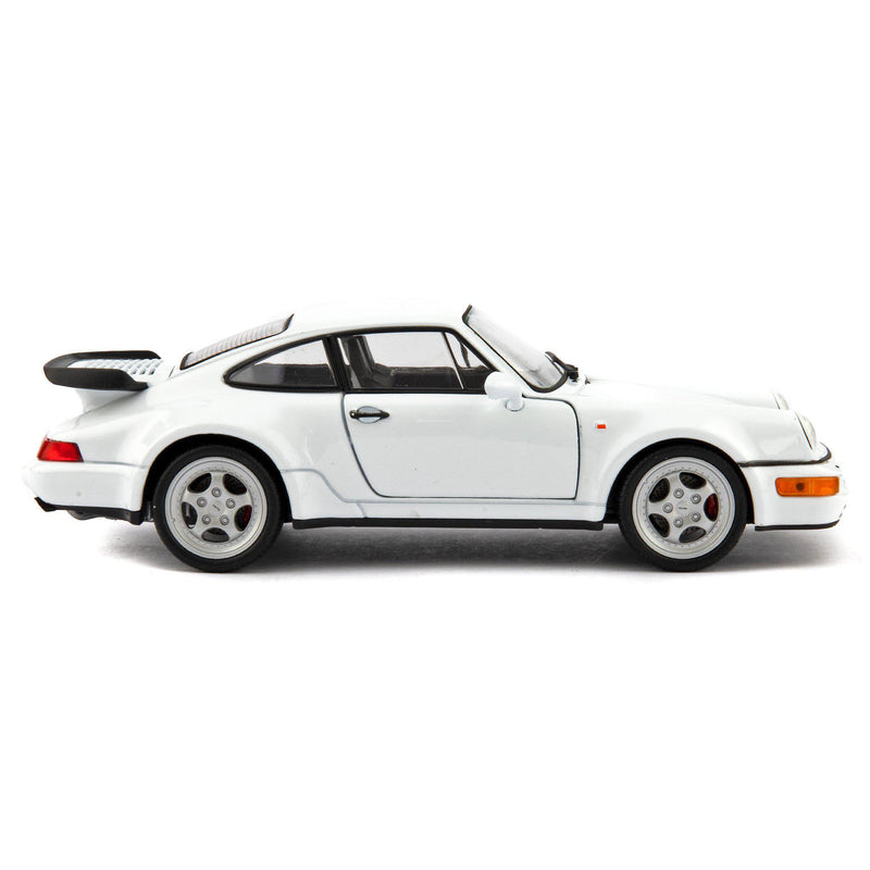 Porsche 911 Turbo 3.0 Diecast Model Car 1974 white - 1:24 Scale-Welly-Diecast Model Centre