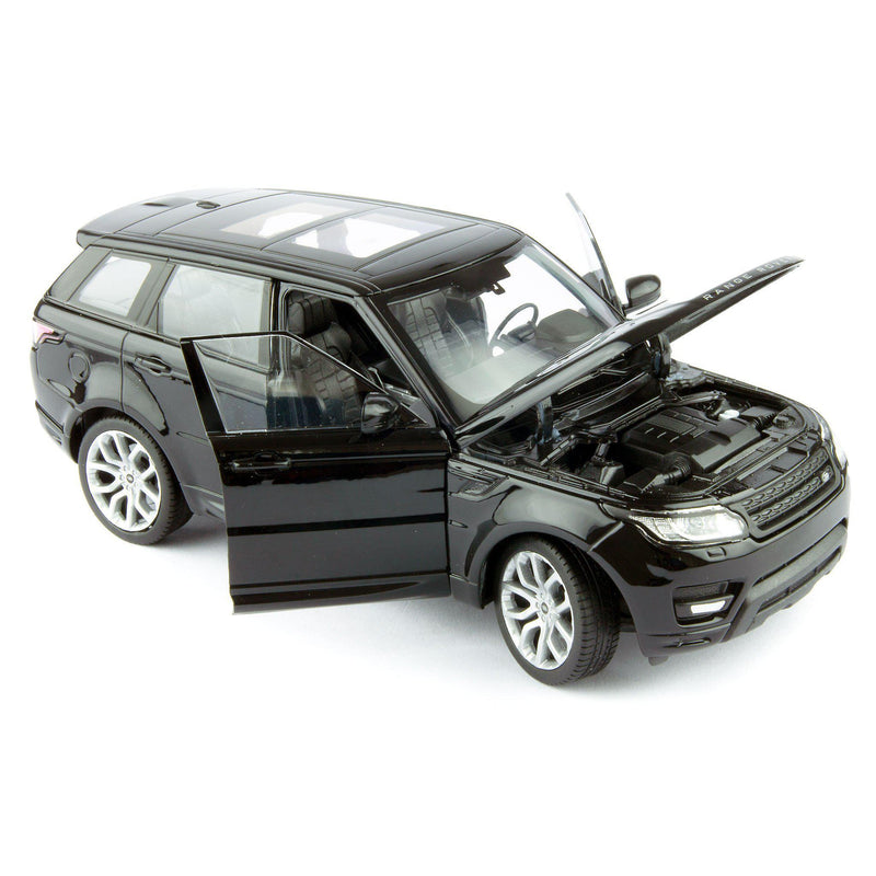 Range Rover Sport Diecast Model Car black - 1:24 Scale-Welly-Diecast Model Centre