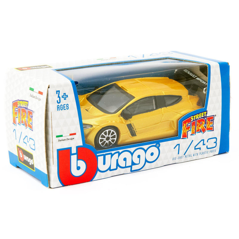 Renault Megane Diecast Toy Car 2010 yellow - 1:43 Scale-Bburago-Diecast Model Centre