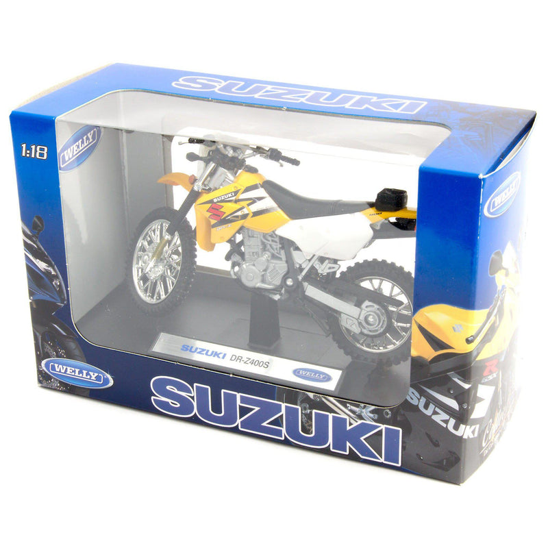Suzuki DR-Z400S Diecast Model Motorcycle - 1:18 Scale-Welly-Diecast Model Centre