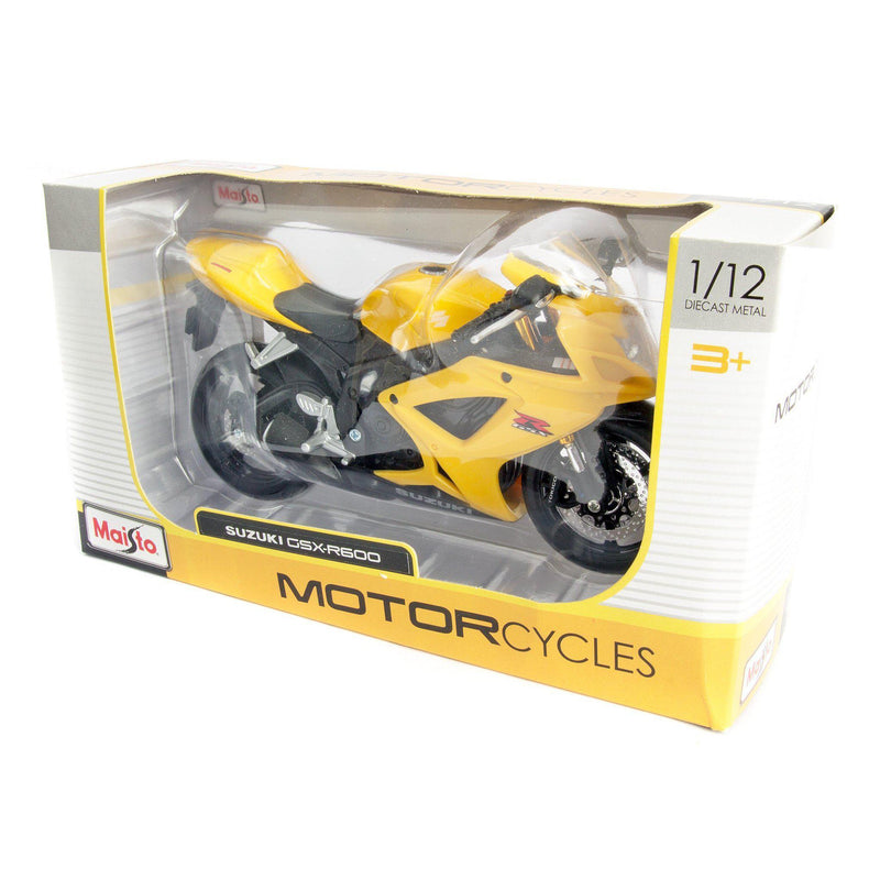 Suzuki GSX-R600 Diecast Model Motorcycle - 1:12 Scale-Maisto-Diecast Model Centre