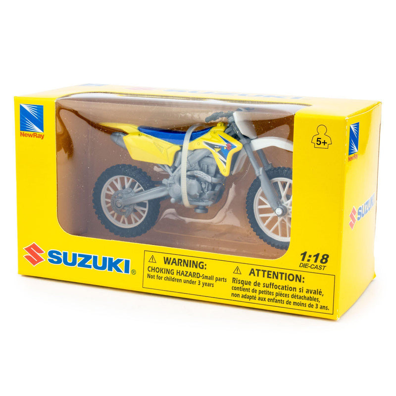 Suzuki RM-Z450 Diecast Model Motorcycle yellow - 1:18 Scale-NewRay-Diecast Model Centre
