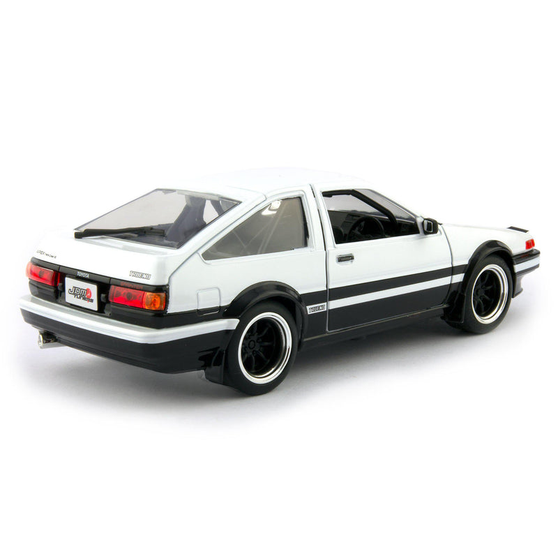 Toyota Sprinter Trueno AE86 Diecast Model Car 1986 white - 1:24 Scale-Jada-Diecast Model Centre