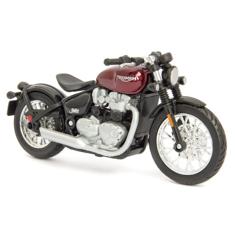 Triumph Bonneville Bobber Diecast Model Motorcycle - 1:18 Scale-Bburago-Diecast Model Centre