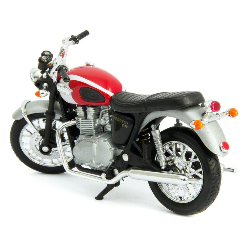 Triumph Bonneville T100 Diecast Model Motorcycle 2002 - 1:18 Scale-Welly-Diecast Model Centre