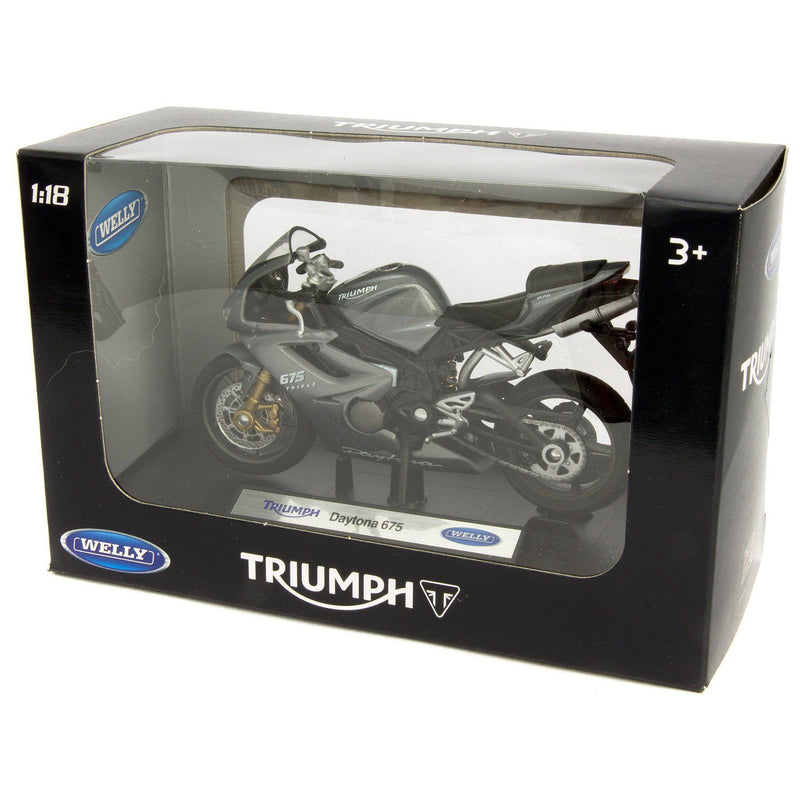 Triumph Daytona 675 Diecast Model Motorcycle - 1:18 Scale-Welly-Diecast Model Centre