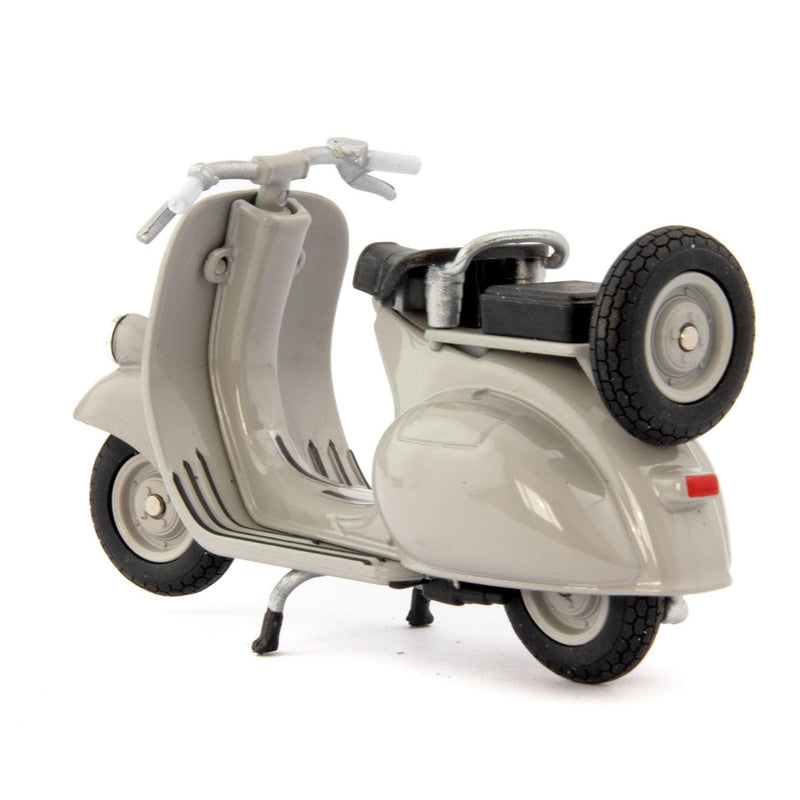 Vespa 124CC Diecast Model Scooter 1953 grey - 1:18 Scale-Welly-Diecast Model Centre