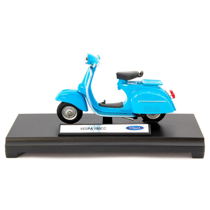 Vespa 150CC Diecast Model Scooter 1970 blue - 1:18 Scale-Welly-Diecast Model Centre