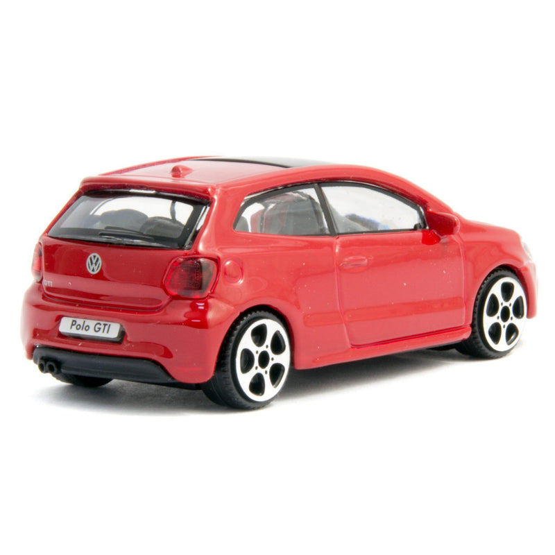 Volkswagen Polo GTi Mk5 Diecast Toy Car red - 1:43 Scale-Bburago-Diecast Model Centre