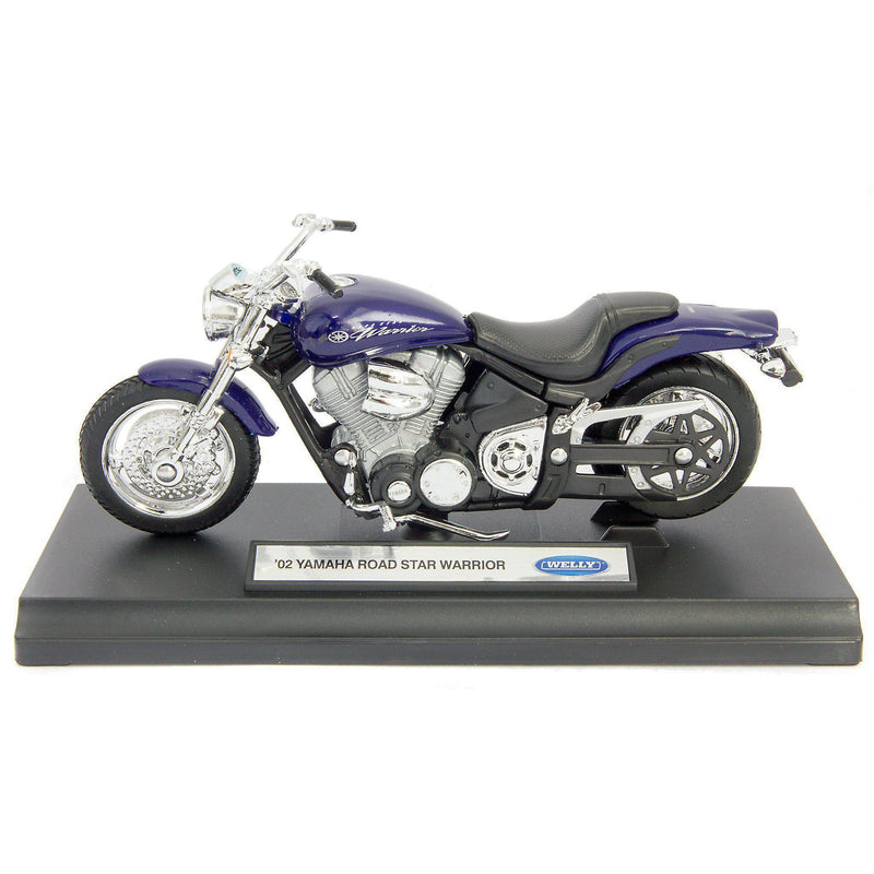 Yamaha Road Star Warrior Diecast Model Motorcycle 2002 - 1:18 Scale-Welly-Diecast Model Centre