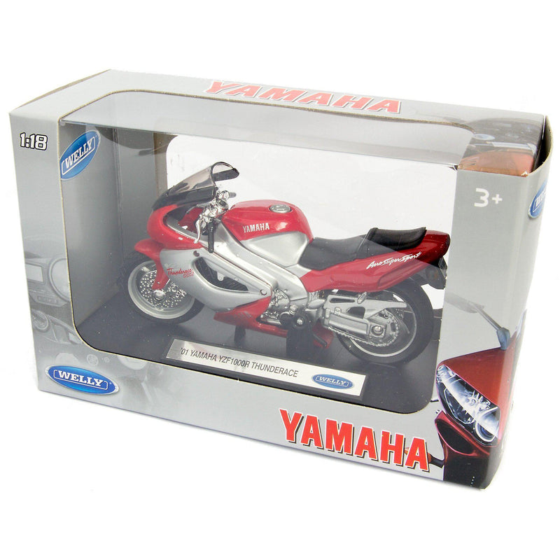 Yamaha YZ1000R Thunderace Diecast Model Motorcycle 2001 - 1:18 Scale-Welly-Diecast Model Centre