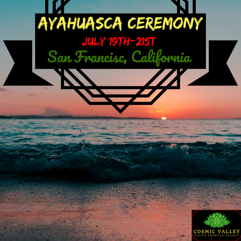 San Francisco, California: US Ayahuasca Ceremony July 19th-21st