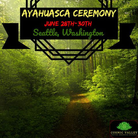 Seattle, WA: US Ayahuasca Ceremony June 28th-30th 2021