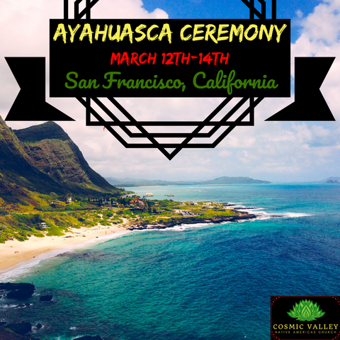 (FULL) San Francisco, CA: US Ayahuasca Ceremony March 12th-14th 2021