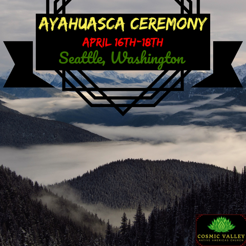 (FULL) Seattle, WA: US Ayahuasca Ceremony April 16th-18th 2021