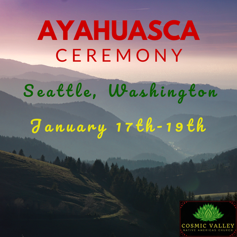 Seattle, WA: US Ayahuasca Ceremony January 17th-19th 2020 ($499 Full Donation)