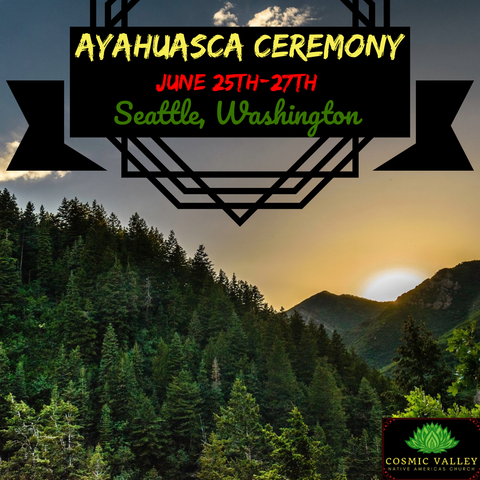 Seattle, WA: US Ayahuasca Ceremony June 25th-27th 2021