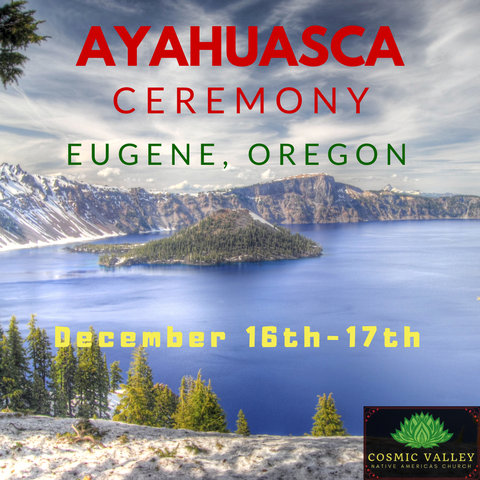 Eugene, OR: US Ayahuasca Ceremony December 16th-18th