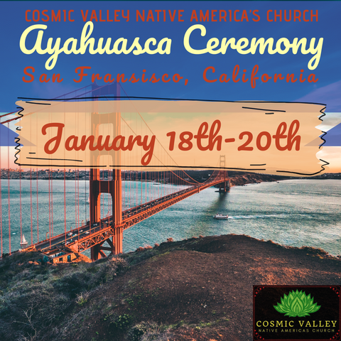 (FULL) San Francisco, CA: US Indoor Ayahuasca Ceremony January 18th-20th 2021