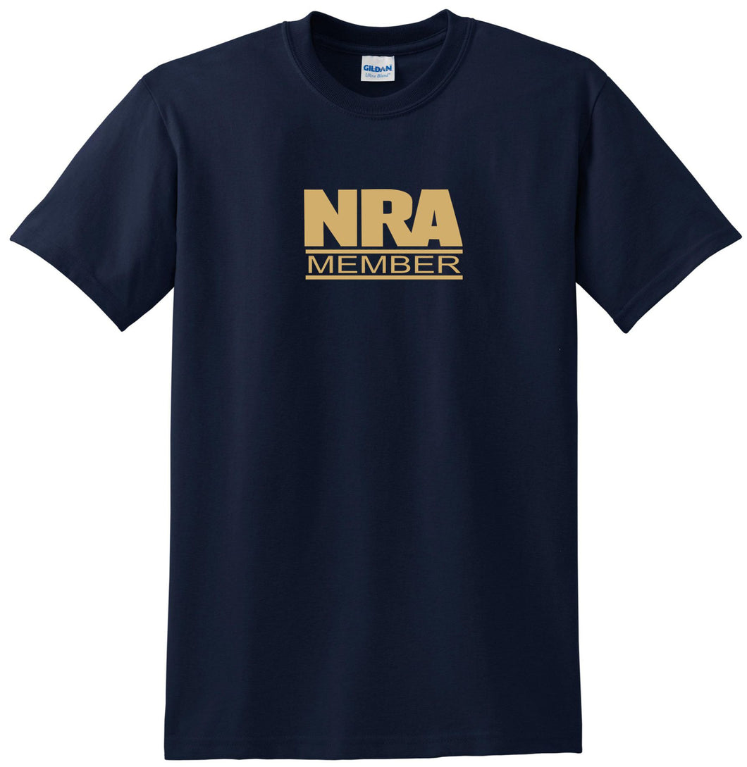 NRA t-shirt Gold Logo NRA shirt