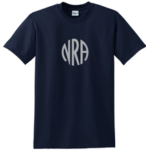 Load image into Gallery viewer, NRA t-shirt Silver Logo Old Fashioned log NRA shirt