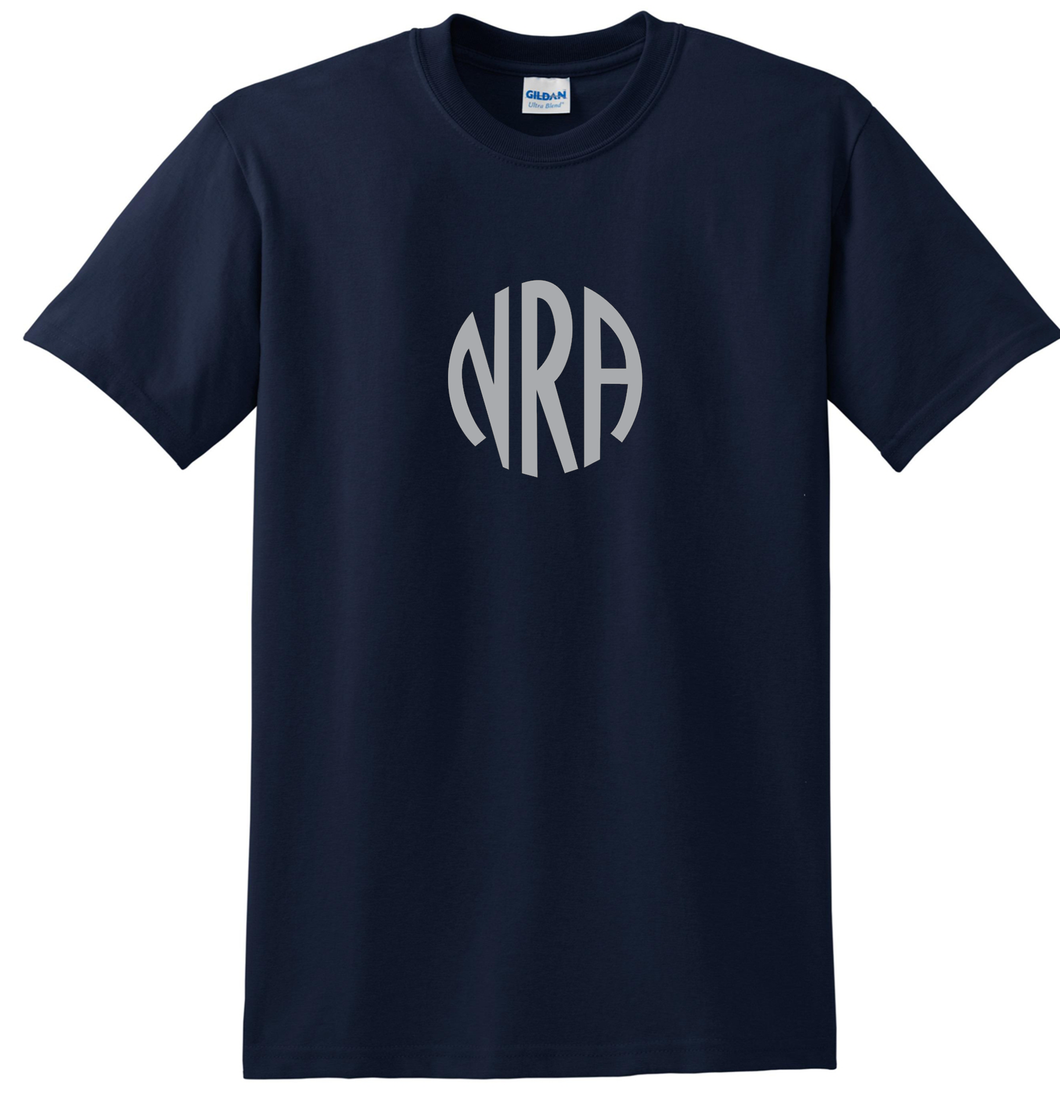 NRA t-shirt Silver Logo Old Fashioned log NRA shirt