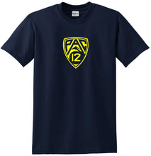 Load image into Gallery viewer, PAC 12 t-shirt Yellow Logo Tee