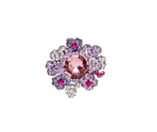 Bouquet of Jewels Ring, Mixed Amethyst and Fuchsia