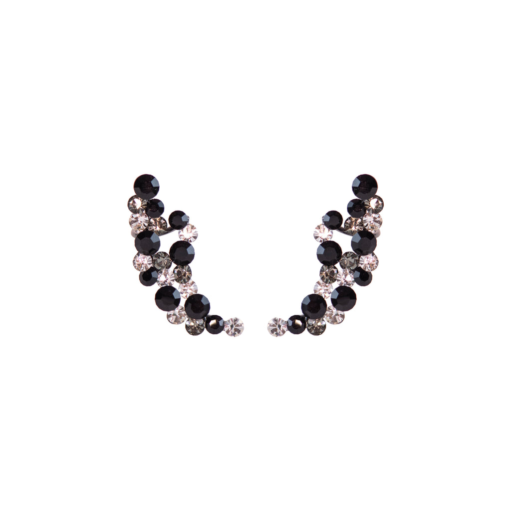 Crescent Crystal Balls Ear Cuff