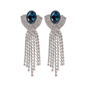 Half Shell Fringe, Montana Blue and Crystal