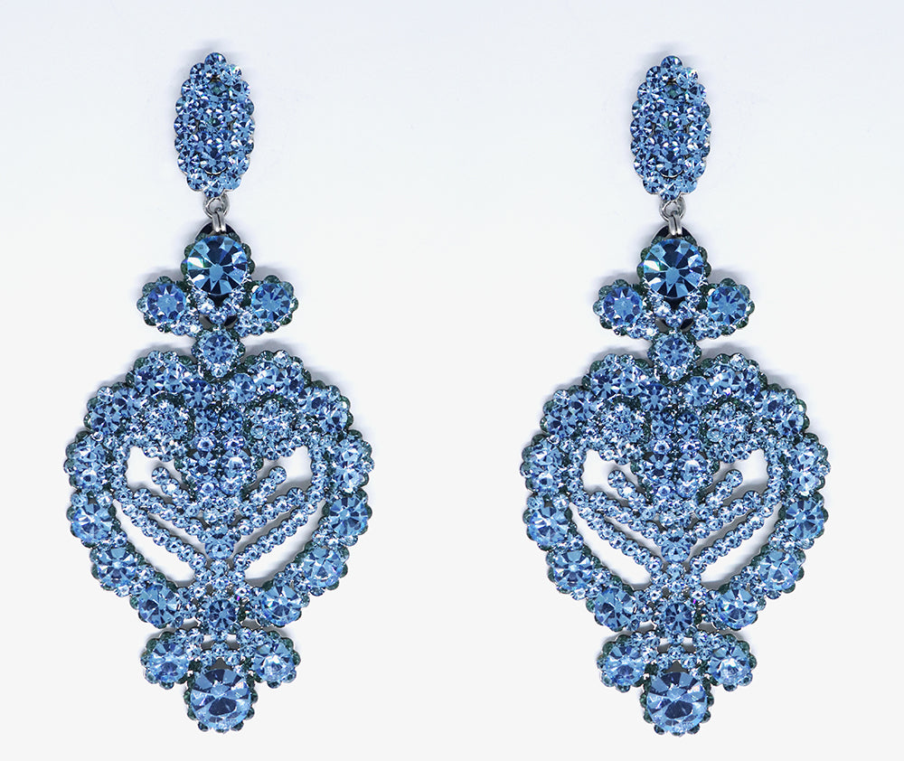 Classic Arabasque Earring, Blue