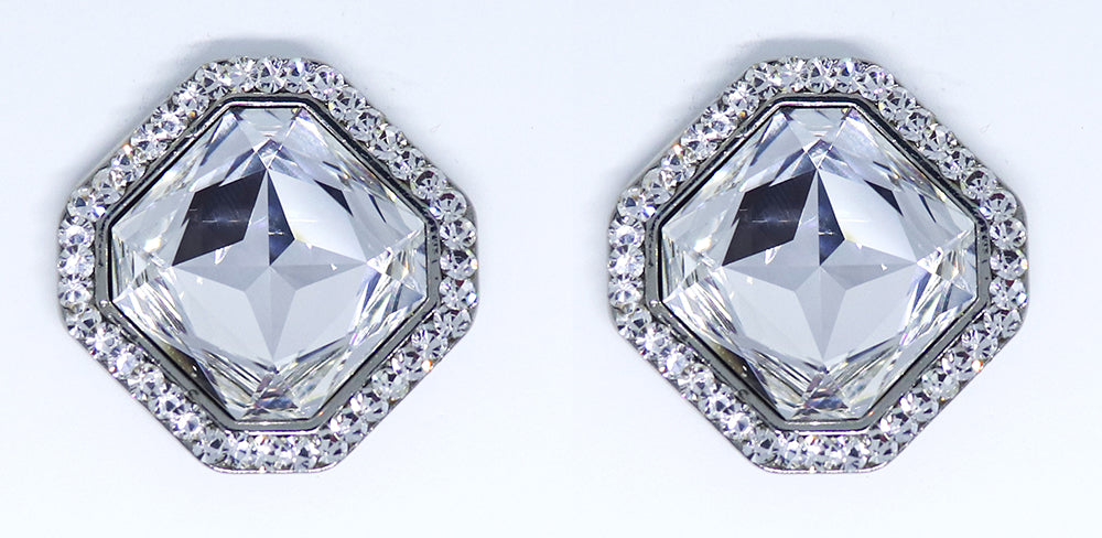 Shine Square Earrings, Crystal