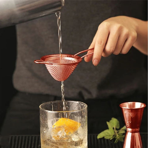 Cocktail Strainer stainless steel passoire à cocktails 4 couleurs acier inoxydable