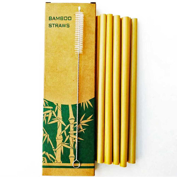 Bamboo Straws, pailles Bambou x10