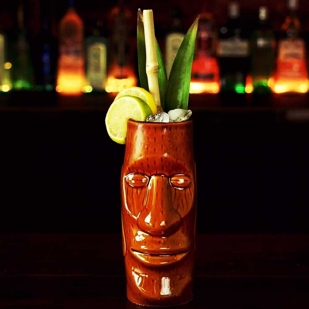 Tiki Mug Cocktail Moaï