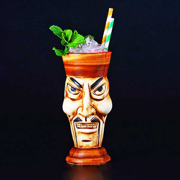 Mug Cocktail Tiki Maori Warrior de face